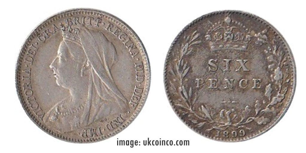 1899 Sixpence