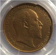 1902 King Edward VII Gold Matt Proof Five Pounds Obverse. Image: M J Hughes Coins