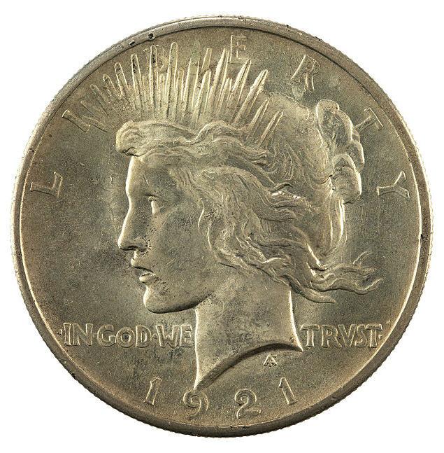 1921 Peace Dollar Obverse
