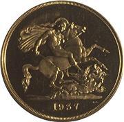 1937 George VI £5 pounds [reverse]. Image: M J Hughes Coins.