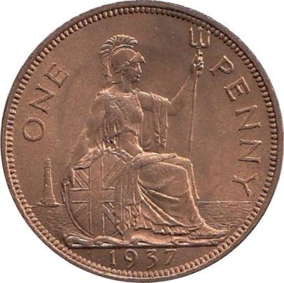 1937 Penny Reverse
