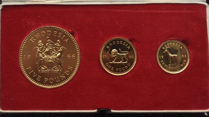 1966 Rhodesia Gold Set