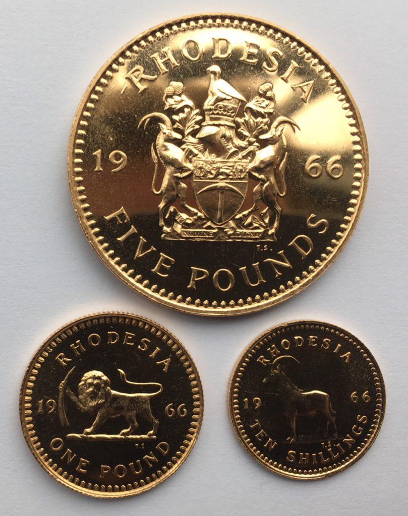 1966 Rhodesia Gold Set Reverse