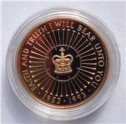 1993 Gold Proof 'Coronation' Crown Reverse