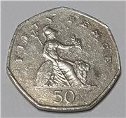2001 50 Pence Britannia