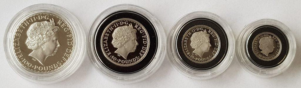 2008 Platinum Britannia Set Obverse