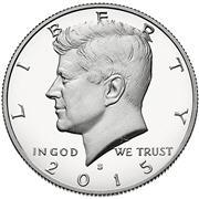 2015 Kennedy half dollar Obverse