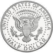 2015 Kennedy half dollar Reverse