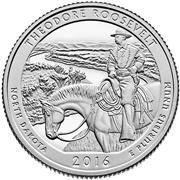 2016 Theodore Roosevelt National Park Proof Quarter