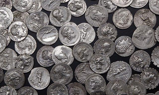 roman coins silver